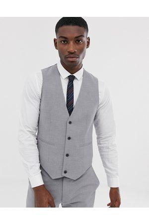 ASOS DESIGN Skinny suit waistcoat in mid grey