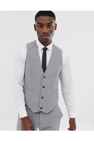 ASOS Skinny suit waistcoat in mid grey