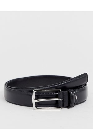 Jack & Jones Premium leather belt in black