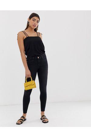 River Island Amelie skinny jeans in black