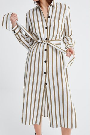 Zara Pruhovaná tunika s kapsami