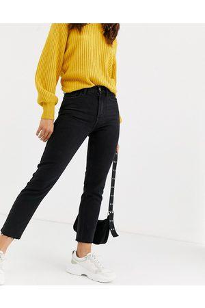 Only Raw edge regular straight leg jean-Black