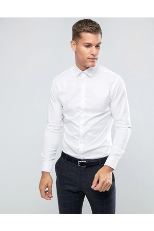 Selected Slim fit easy iron smart shirt in white