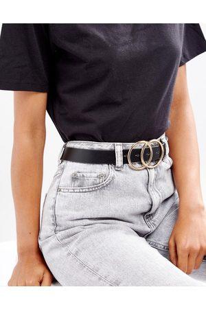 ASOS Double circle waist and hip jeans belt-Black