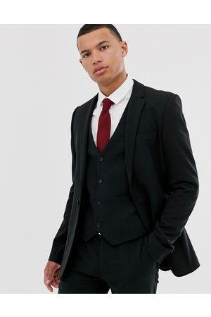 ASOS Muži Saka - Super skinny suit jacket in black