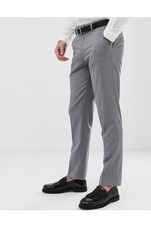 ASOS Muži Chino - Slim smart trousers in grey