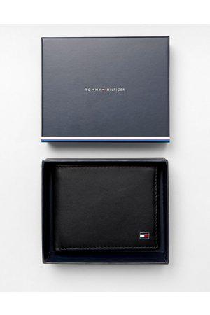 Tommy Hilfiger Eton mini billfold leather wallet in black