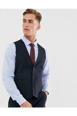 ASOS Muži Společenské vesty - Skinny suit waistcoat in navy