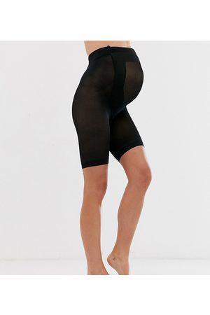 ASOS Maternity Ženy Nohavičkové - ASOS DESIGN Maternity anti-chafing shorts in black