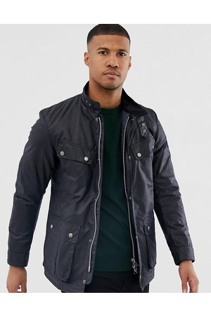 Barbour Duke slim fit wax jacket navy