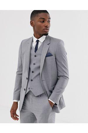 ASOS Muži Saka - Slim suit jacket in mid grey
