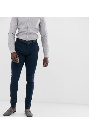 ASOS Muži Úzké nohavice - Tall super skinny fit suit trousers in navy