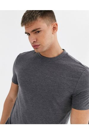 ASOS T-shirt with crew neck in charcoal marl-Grey