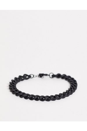 ASOS Midweight chain bracelet in black