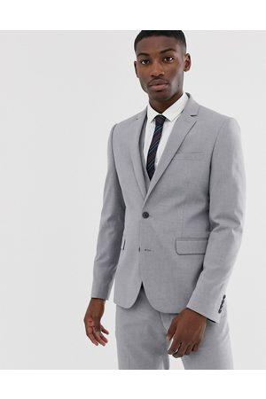 ASOS Muži Saka - Skinny suit jacket in mid grey