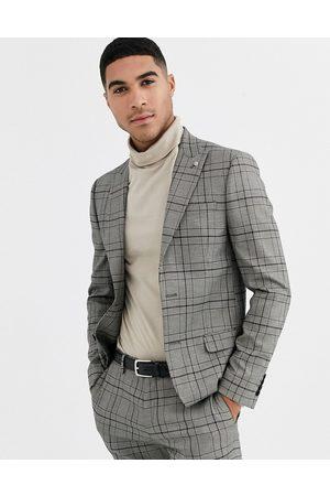 River Island Muži Saka - Suit jacket in grey check