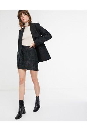 & OTHER STORIES Jacquard pelmet mini skirt in black