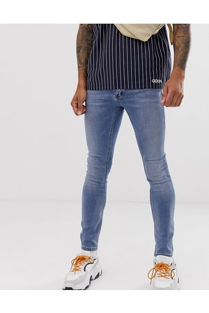 Topman Spray on jeans in light blue wash
