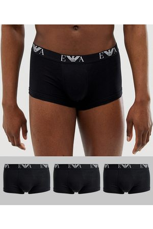 Emporio Armani Bodywear Emporio Armani 3 pack EVA logo trunks in black