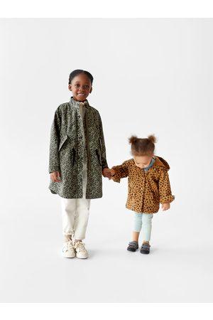 Zara Děti Parky - Parka s odnímatelnou podšívkou a zvířecím potiskem