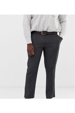 ASOS Muži Chino - Plus slim smart trousers in charcoal-Grey