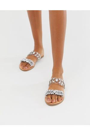 Accessorize Clear flat sandals with embellishment