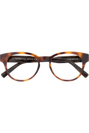 Ermenegildo Zegna Muži Sluneční brýle - Tortoiseshell round frame glasses