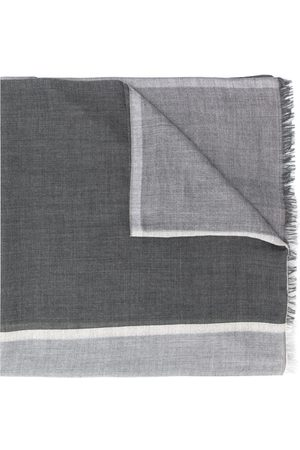 Brunello Cucinelli Colour-block knitted scarf
