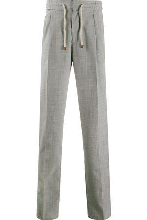 Brunello Cucinelli High-rise slim trousers