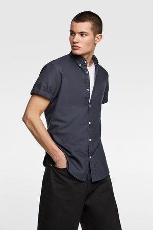 Zara Košile oxford s krátkým rukávem