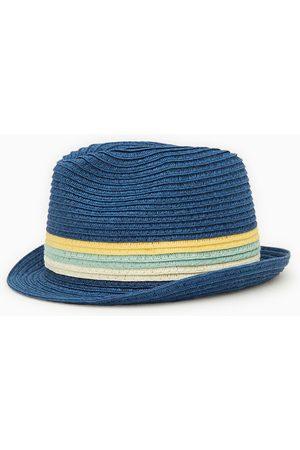 Zara Slaměný klobouk se tkanými pruhy