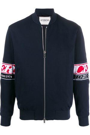 Iceberg Sleeve-logo bomber jacket