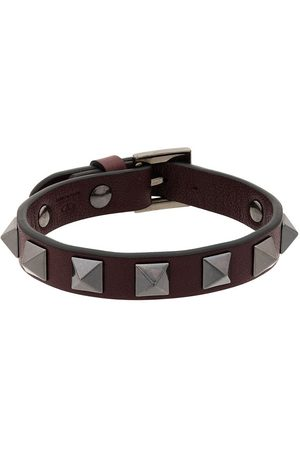 VALENTINO Burgundy Rockstud Bracelet