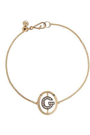 ANNOUSHKA 18kt yellow gold diamond initial G bracelet