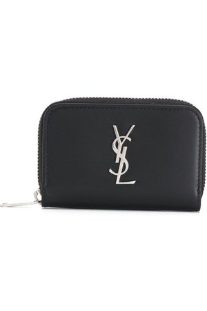 Saint Laurent YSL logo zipped purse