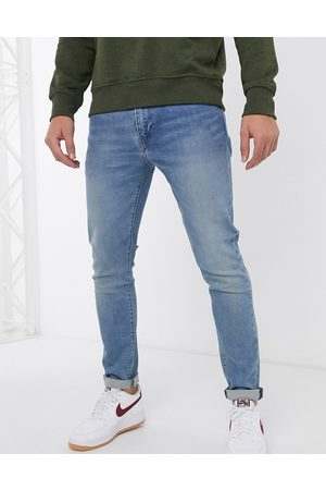 Levi's Muži Slim - Levi's 512 slim tapered fit jeans in pelican rust mid wash-Blue