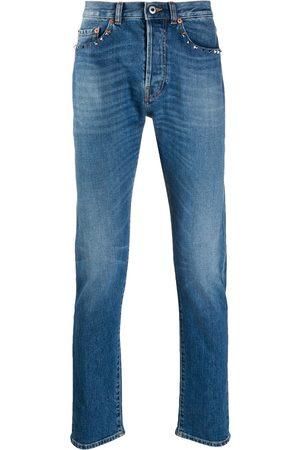 VALENTINO Rockstud slim-fit jeans