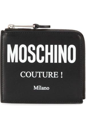 Moschino Couture logo zipped wallet