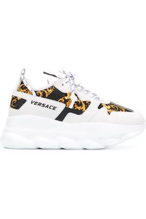 VERSACE Baroque-print low-top sneakers