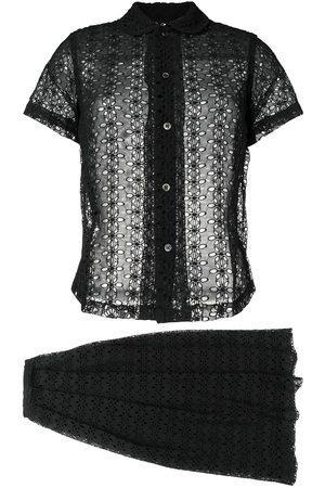 Comme des Garçons 1998's English embroidery skirt suit