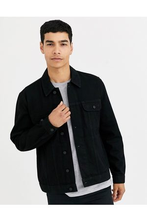 ASOS Regular western denim jacket in black