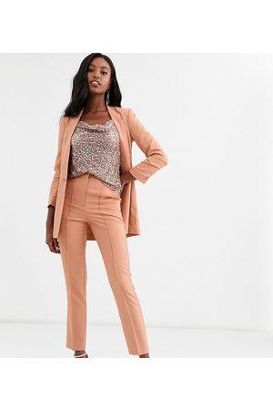 ASOS ASOS DESIGN Tall mix & match cigarette grazer suit trousers-Pink