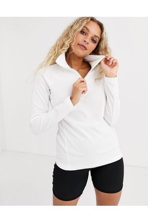 Columbia Glacial half zip fleece in white