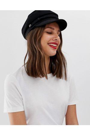 ASOS Muži Klobouky - High crown wool baker boy hat-Black