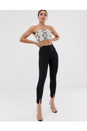 Missguided Ženy Společenské - Cigarette trousers in black