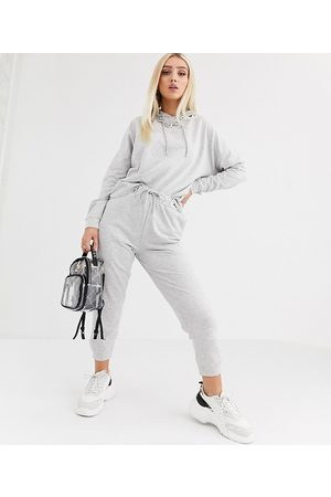ASOS Tracksuit hoodie / slim jogger with tie-Grey