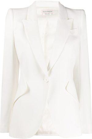 Alexander McQueen Structured shoulder blazer