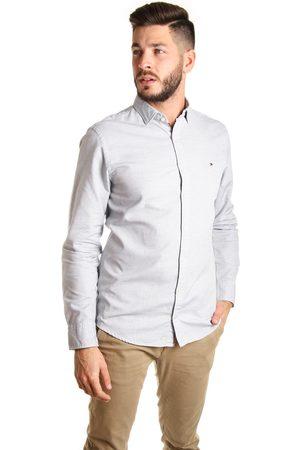 Tommy Hilfiger Muži Košile - Pánská košile s tmavě modrým vzorem
