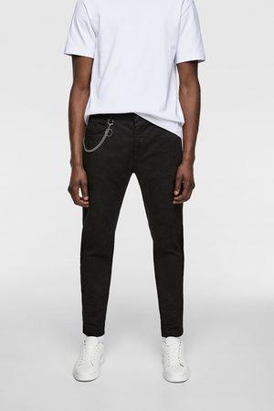 Zara Barvené kalhoty s řetízkem