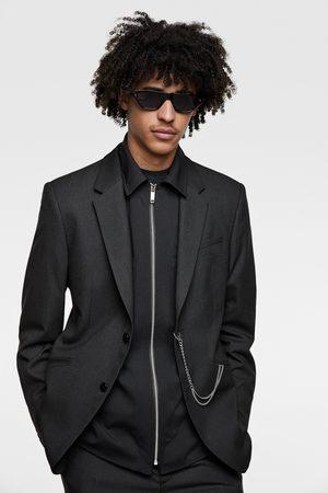 Zara Muži Saka - Oblekové sako s tenkými proužky